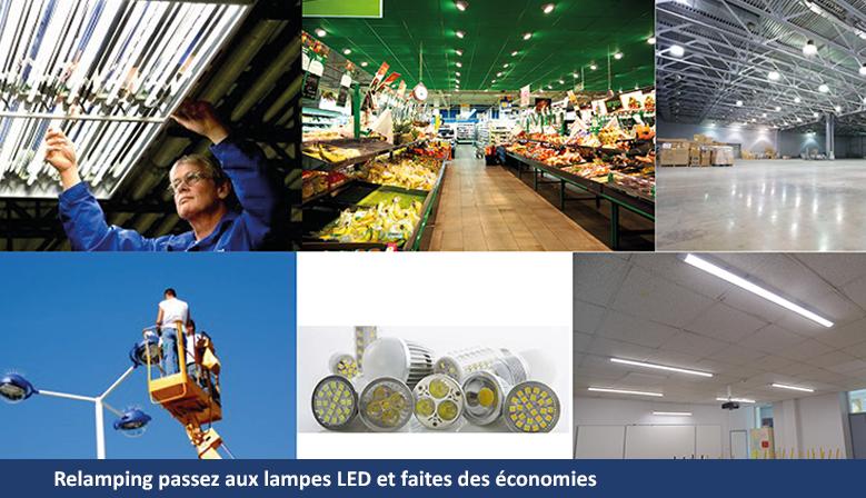 Relamping passez aux lampes LED et faites des économies